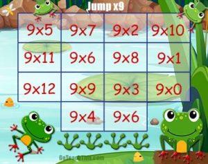 Free Nine Times Table Game