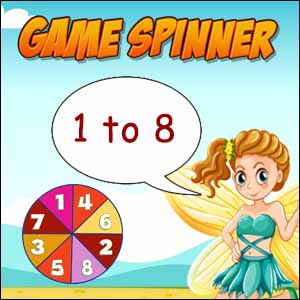Game Spinner 1 to 8